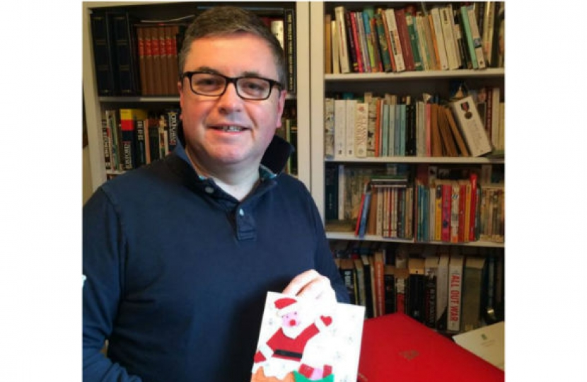 Robert Buckland MP with one of the Christmas cards