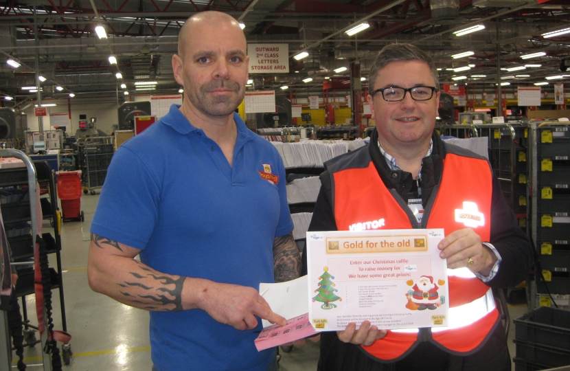 Robert BUckland MP with Royal Mail Engineer, Steve Pritchard