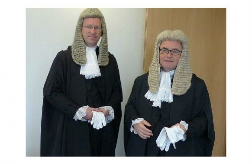 AG Jeremy Wright QC MP and SG Robert Buckland QC MP getting ready for the opening of the legal year