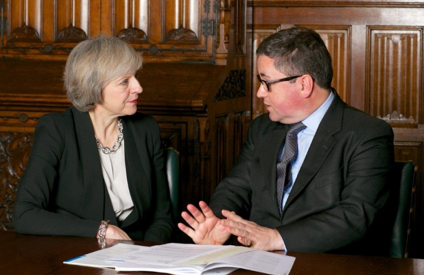 Robert Buckland MP with Prime Minister, Theresa May