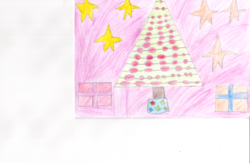 Runner-up Holly Scott from Chiseldon Primary School with a stunning Christmas tree design.