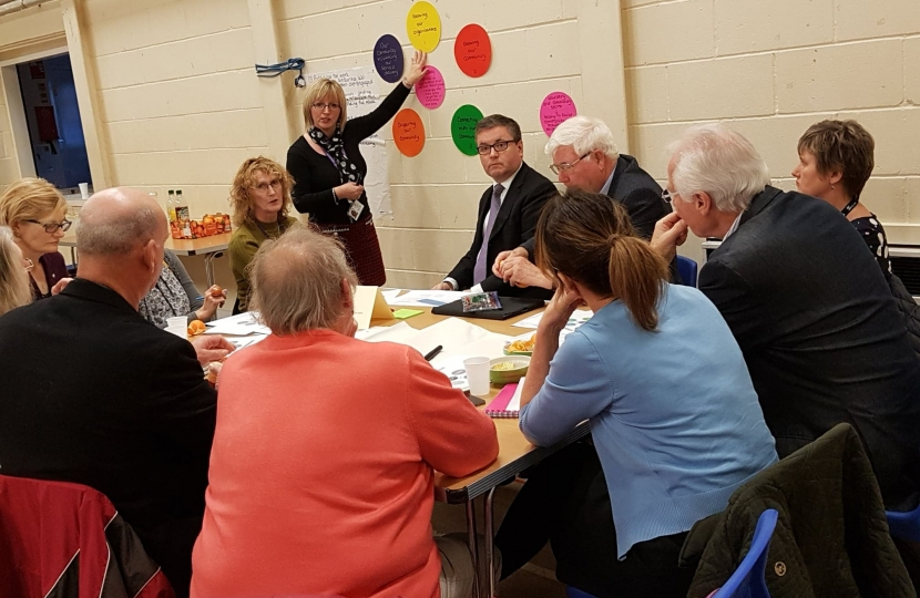 Robert Buckland MP at his third Loneliness Summit organised with Swindon Seniors Forum