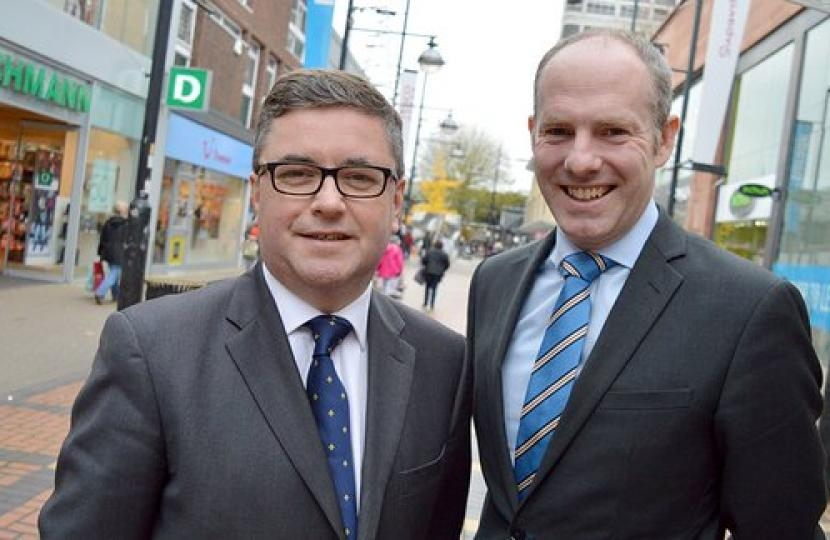 Robert Buckland QC MP pictured with North Swindon MP Justin Tomlinson