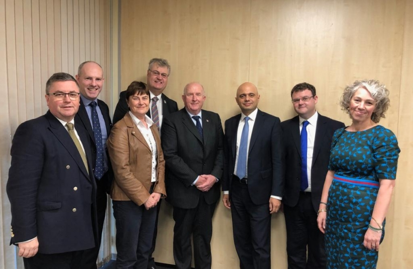 Whilst in Swindon, Home Secretary, Sajid Javid, praised the work of Wiltshire Police