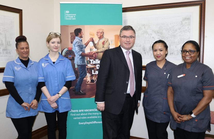 Robert Buckland MP meeting with local carers ahead of the Every Day Is Different Campaign