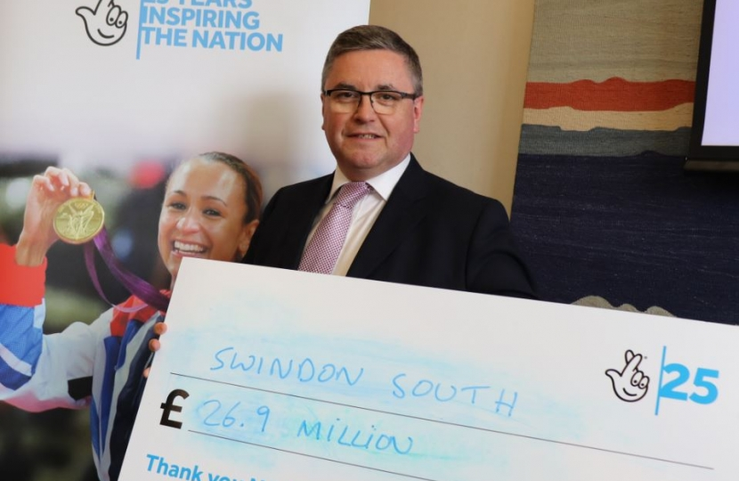 Robert Buckland QC MP National Lottery Cheque